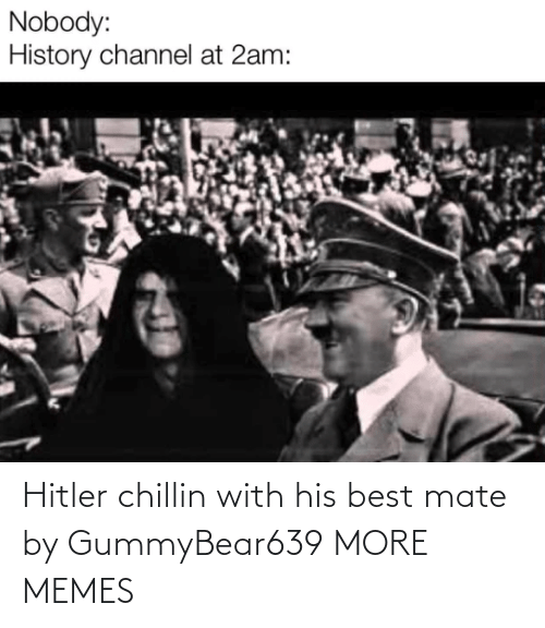 His Best: Hitler chillin with his best mate by GummyBear639 MORE MEMES