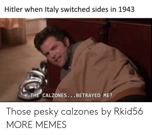 betrayed: Hitler when Italy switched sides in 1943  THE CALZONES...BETRAYED ME? Those pesky calzones by Rkid56 MORE MEMES