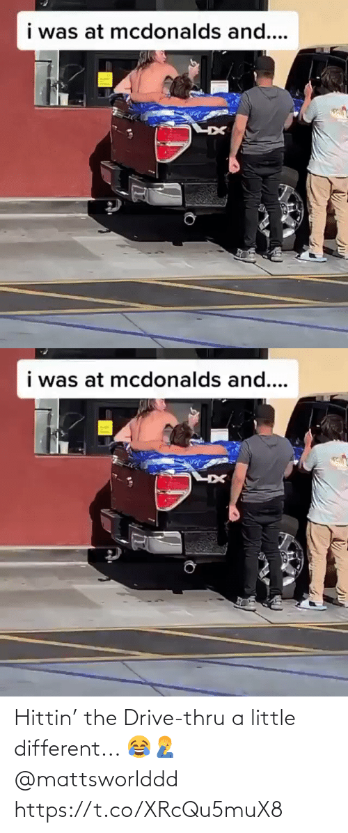 drive thru: Hittin' the Drive-thru a little different...  😂🤦‍♂️ @mattsworlddd https://t.co/XRcQu5muX8