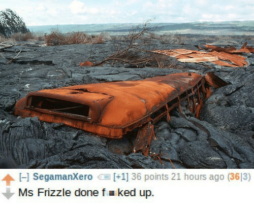Ms. Frizzle: Hl Segamanxero  [+11 36 points 21 hours ago (3613)  Ms Frizzle done f a ked up.
