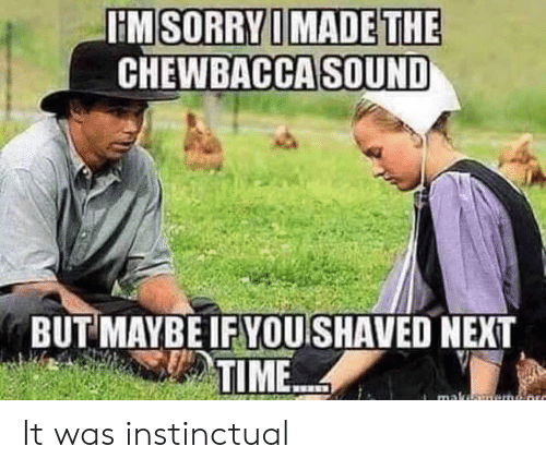maka: HM SORRY I MADE THE  CHEWBACCA SOUND  BUT MAYBE IF YOU SHAVED NEXT  TIME  maka It was instinctual