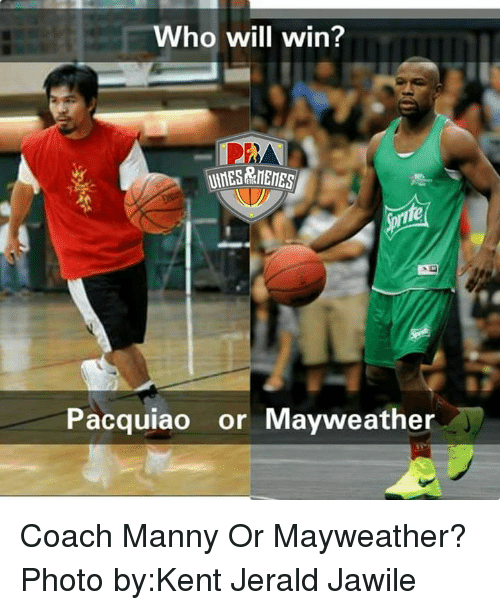 Mannis: ho will win?  Pacquiao  or Mayweather Coach Manny Or Mayweather? Photo by:Kent Jerald Jawile