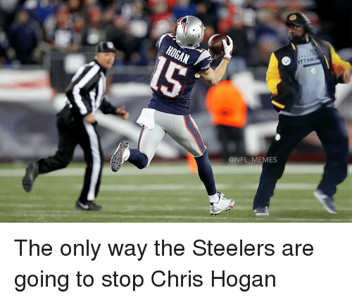 Football, Nfl, and Sports: HOGAN  @NFL MEMES  ITTMIMI The only way the Steelers are going to stop Chris Hogan