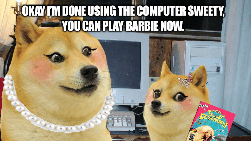 sweety: HOKAYIM DONE USING THE COMPUTER SWEETY  YOU CAN PLAY BARBIE NOW.