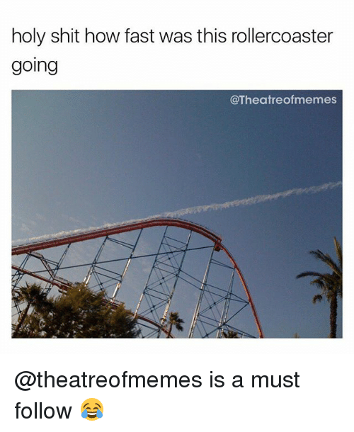 Memes, Shit, and 🤖: holy shit how fast was this rollercoaster  going  @Theatreofmemes @theatreofmemes is a must follow 😂