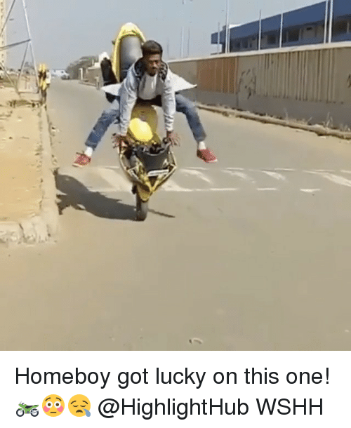 Luckiness: Homeboy got lucky on this one! 🏍😳😪 @HighlightHub WSHH