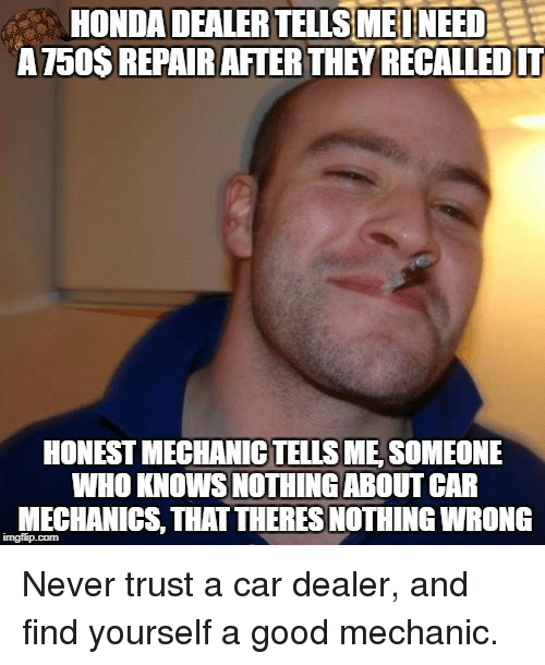 Honest Car Dealer Meme