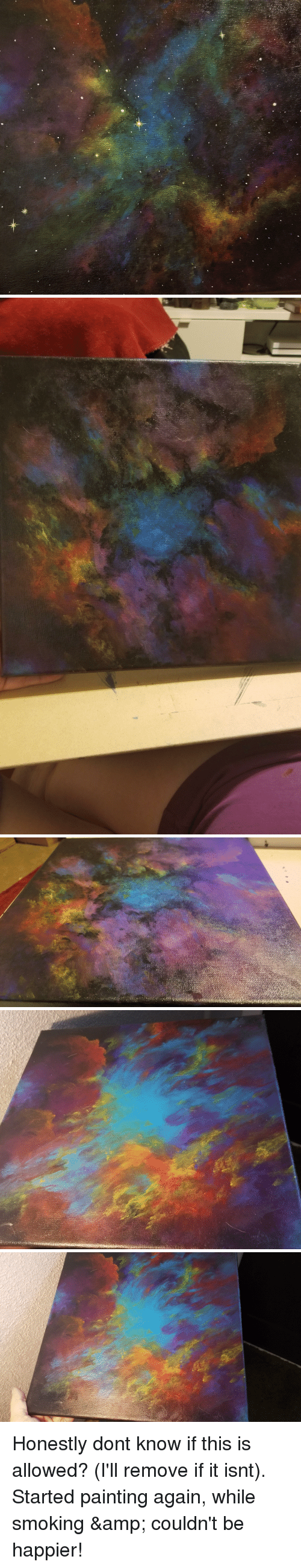 Smoking, Weed, and Depression: Honestly dont know if this is allowed? (I'll remove if it isnt). Started painting again, while smoking & couldn't be happier!