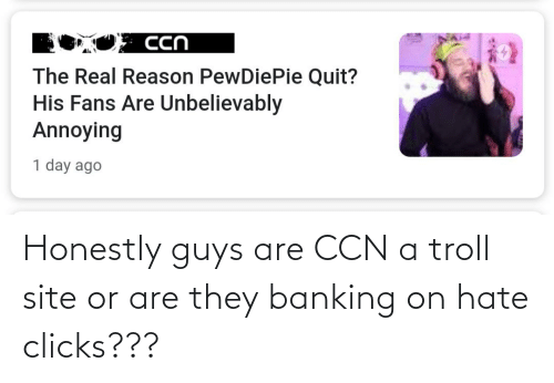 Banking: Honestly guys are CCN a troll site or are they banking on hate clicks???