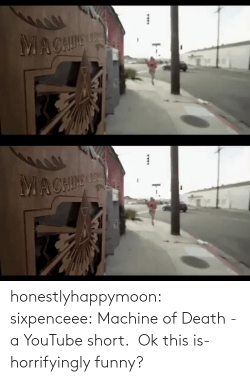machine: honestlyhappymoon: sixpenceee:  Machine of Death - a YouTube short.   Ok this is- horrifyingly funny?