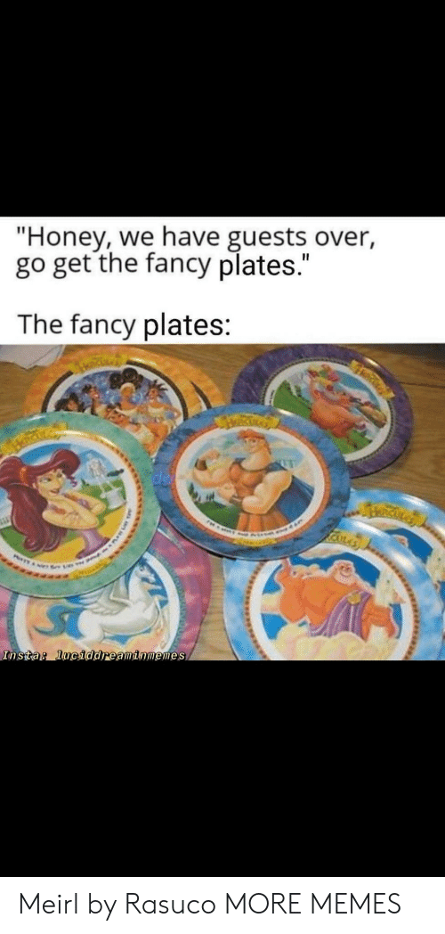 """insta: """"Honey, we have guests over,  go get the fancy plates.""""  The fancy plates:  RICKLA  Insta: luciddreaminmemes Meirl by Rasuco MORE MEMES"""