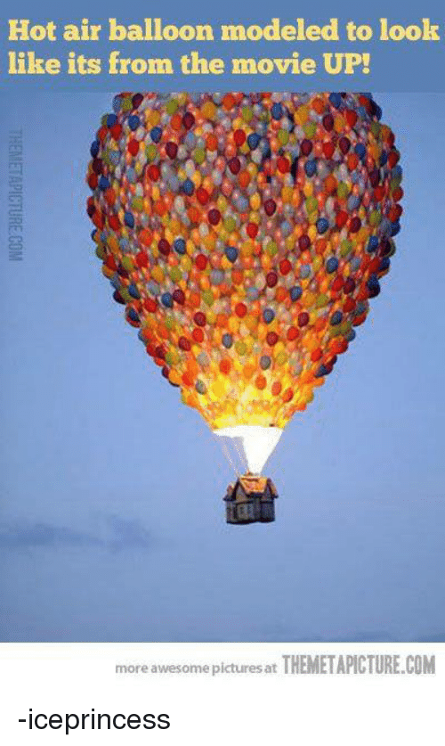 hot air balloons: Hot air balloon modeled to look  like its from the movie UP!  賏  more awesome pictures at THEMETAPICTURE.COM -iceprincess