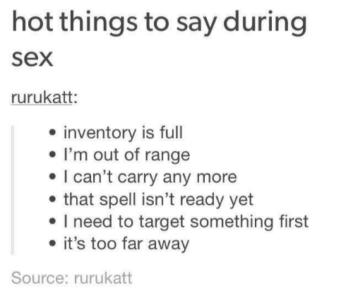 Think, that Things to say during sex