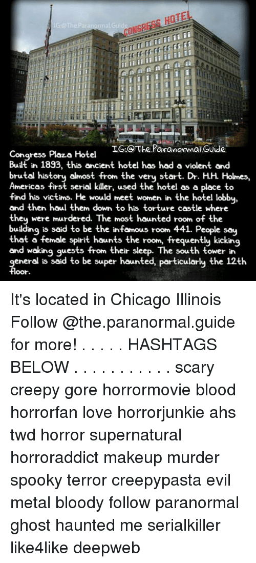 Hote ig theparanormalguide ig the paranormal guide for 12th floor congress plaza