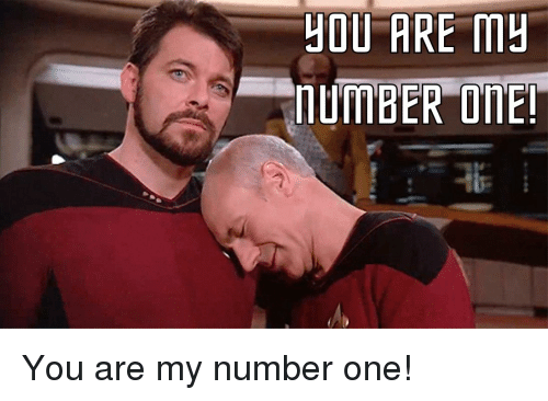 Beard, Star Trek, and One: HOU ARE m You are my number one!