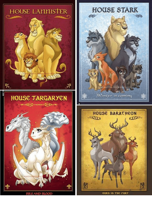 Memes, 🤖, and Fury: HOUSE LAnnISTER  HOUSE TARGARYEN  FIRE AND BLOOD  HOUSE STARK  winter is coming  House BARATHEON  OURS IS THE FURY