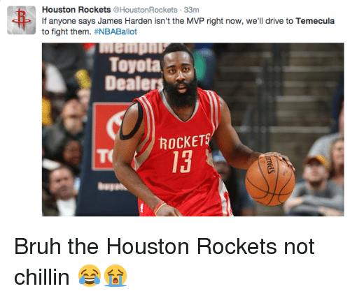 Houston Rockets Funny: 25+ Best Memes About Bruh And Toyota