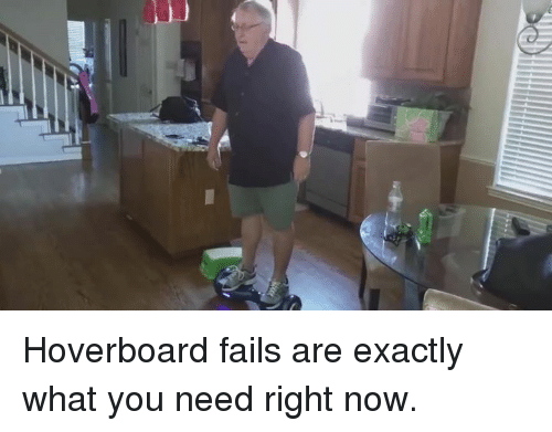 Hoverboard: Hoverboard fails are exactly what you need right now.
