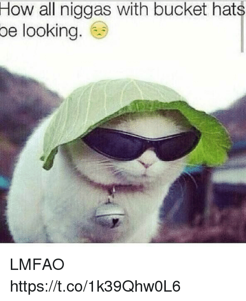 Funny, Lmfao, and How: How all niggas with bucket hats  oe looking LMFAO https://t.co/1k39Qhw0L6