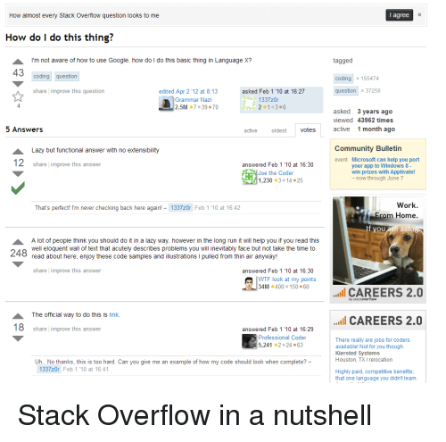 Funny Stackoverflow Memes of 2017 on SIZZLE | Doe