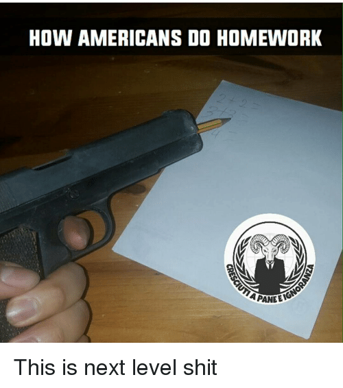 Memes, 🤖, and Next: HOW AMERICANS DO HOMEWORK  APANEENG This is next level shit