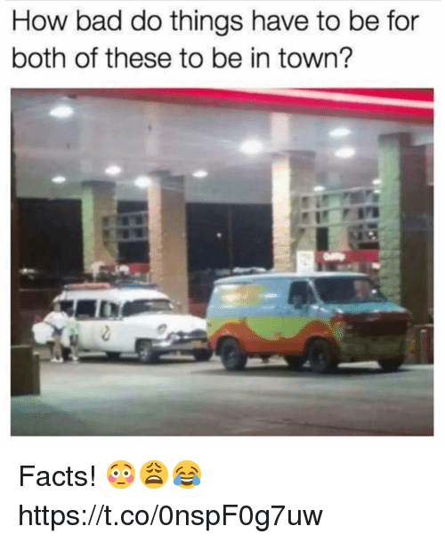 Bad, Facts, and How: How bad do things have to be for  both of these to be in town? Facts! 😳😩😂 https://t.co/0nspF0g7uw
