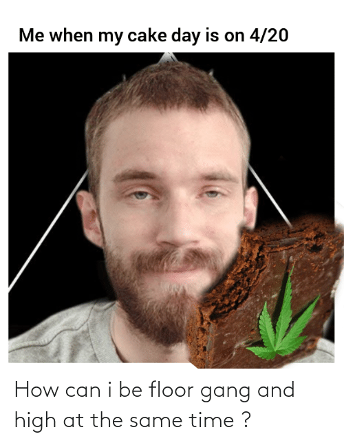 at the same time: How can i be floor gang and high at the same time ?