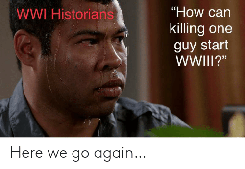 """Killing: """"How can  WWI Historians  killing one  guy start  WWIII?"""" Here we go again…"""