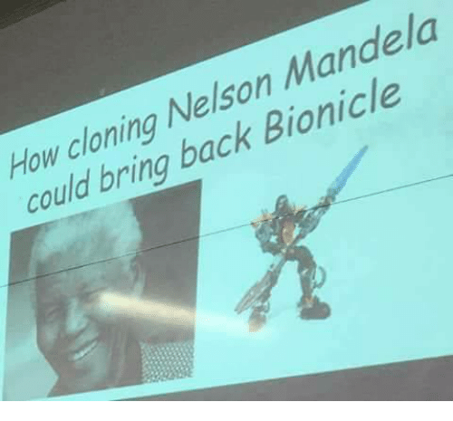 cloning: How cloning Nelson Mandela  could bring back Bionicle
