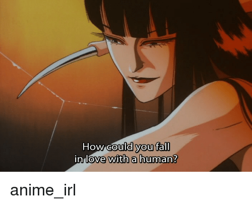 Anime Characters You Fall In Love With : How could you fall in love with a human anime irl