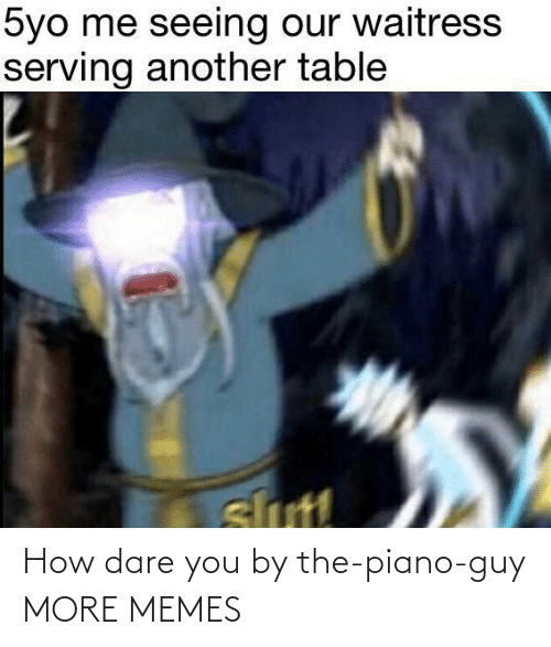how dare you: How dare you by the-piano-guy MORE MEMES