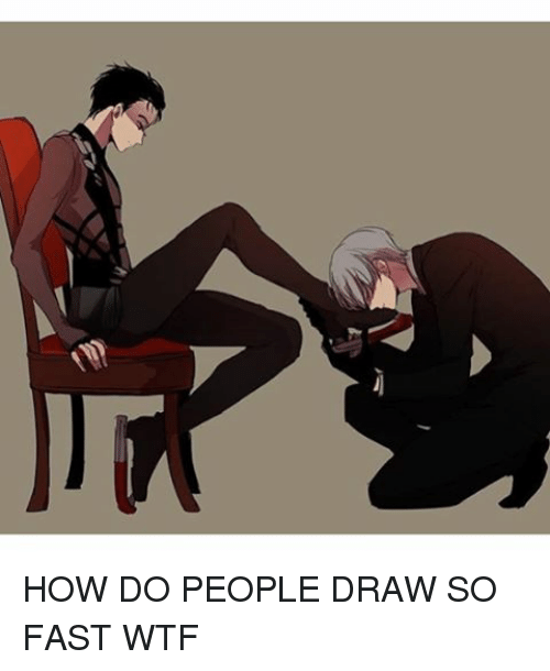 how to draw people fast
