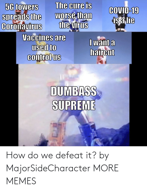 defeat: How do we defeat it? by MajorSideCharacter MORE MEMES