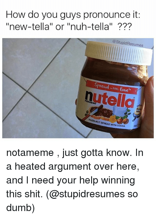 Nutella meme spread that shit