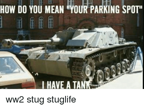 "Memes, Mean, and 🤖: HOW DO YOU MEAN ""YOUR PARKING SPOT  I HAVE A TA ww2 stug stuglife"