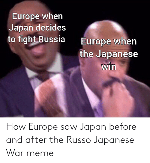 War Meme: How Europe saw Japan before and after the Russo Japanese War meme