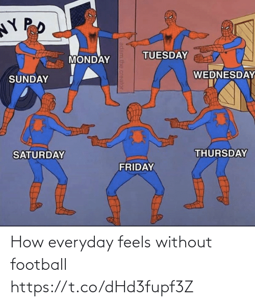 Everyday: How everyday feels without football https://t.co/dHd3fupf3Z