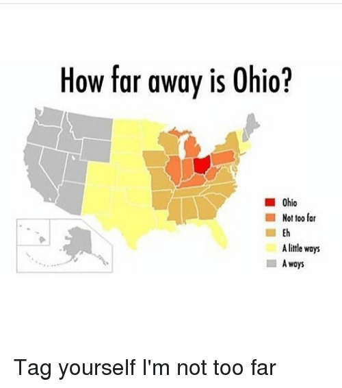 How Far Is A Meter : How far away is ohio not too a little ways