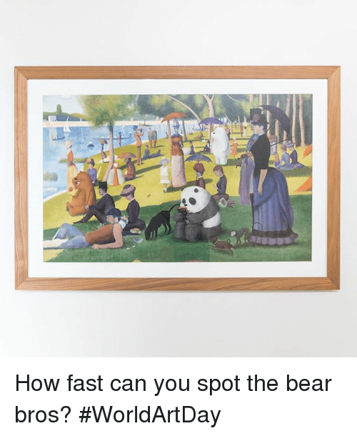 Memes, Bear, and 🤖: How fast can you spot the bear bros? #WorldArtDay