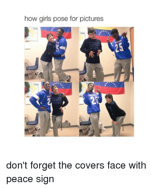 Girls, Covers, and Girl: how girls pose for pictures don't forget the covers face with peace sign
