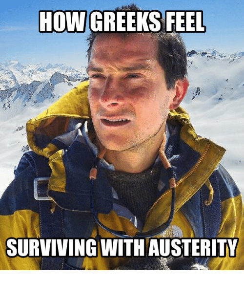 Glorious Greek Empire: HOW GREEKS FEEL  SURVIVING WITH AUSTERITY