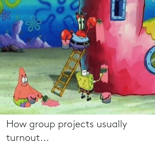 Group Projects: How group projects usually turnout...