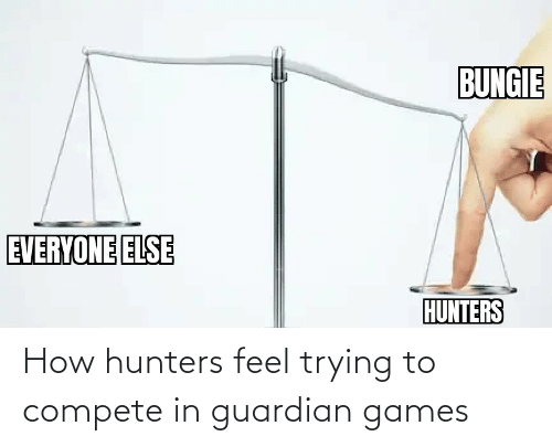 Guardian: How hunters feel trying to compete in guardian games