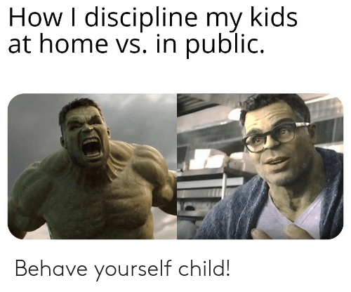 discipline: How I discipline my kids  at home vs. in public. Behave yourself child!