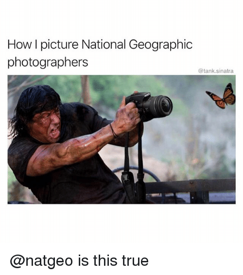 Funny, True, and National Geographic: How I picture National Geographic  photographers  @tank.sinatra @natgeo is this true