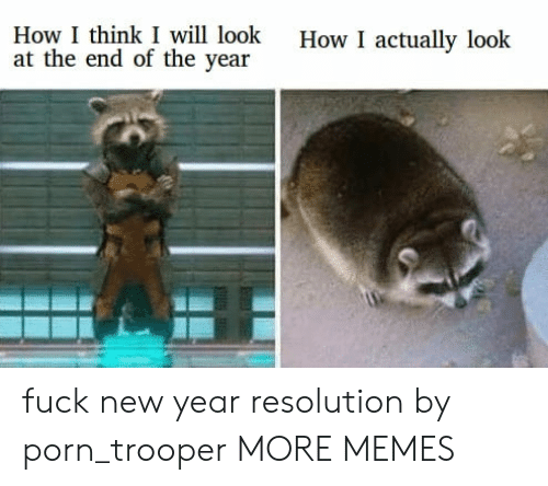 New Year Resolution: How I think I will look  at the end of the year  How I actually look fuck new year resolution by porn_trooper MORE MEMES