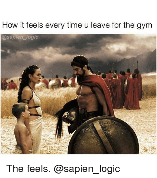Gym, Logic, and Time: How it feels every time u leave for the gym  @sapien logi The feels. @sapien_logic