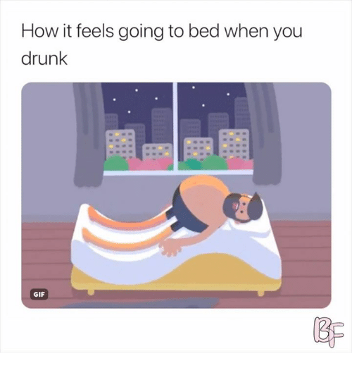 drunk gif: How it feels going to bed when you  drunk  GIF  BP