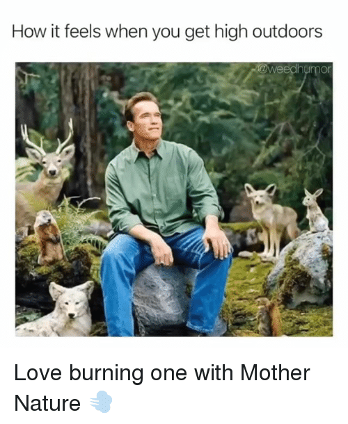Love, Weed, and Marijuana: How it feels when you get high outdoors Love burning one with Mother Nature 💨