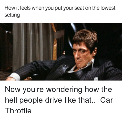 you put your foot on the throttle